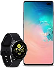 $1448 » Samsung Galaxy S10+ Plus Factory Unlocked Phone with 512GB (U.S. Warranty), Ceramic White with Galaxy Watch Active (40mm), Black - US Version with Warranty