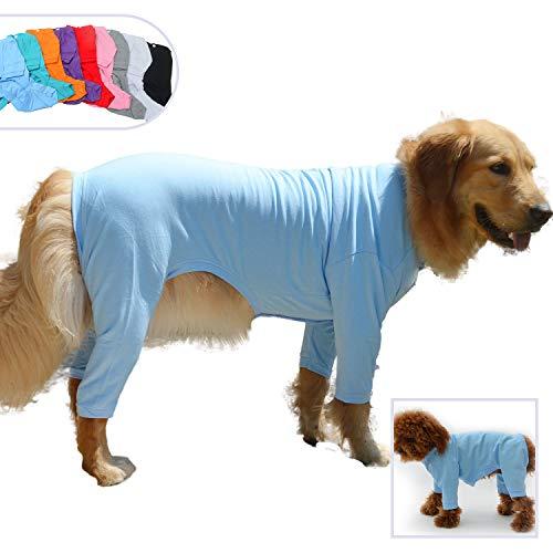 lovelonglong Pijama Ligero para Perro, de Cuatro pies, de algodón Puro, Mono...