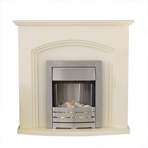 Adam Truro Fireplace Suite in Ivory with Helios Electric Fire, 2000 Watt
