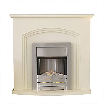 Adam Truro Fireplace Suite in Ivory with Helios Electric Fire, 2000 Watt