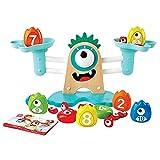 Hape Math Scale-Colourful, Educational Wooden Toy Monster Escala matemáticas – Colorido, Juguete Educativo de Madera (E0511)