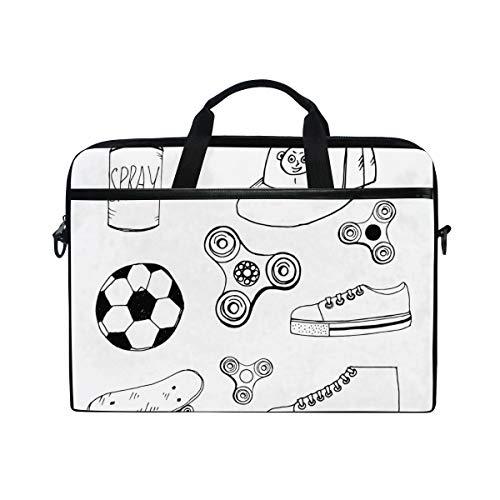 HUAYEXI HandtascheLaptop,Doodle Spinner Cap Aerosol Paint Ball,Umhängetasche Laptop Tasche Handtasche Business Aktentasche