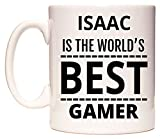 Isaac is The World's BEST Gamer Taza por WeDoMugs®
