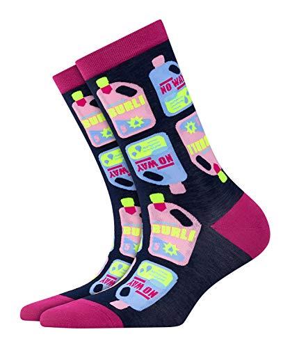 BURLINGTON Damen Socken Wash Me - Baumwollmischung, 1 Paar, Blau (Marine 6120), Größe: 36-41