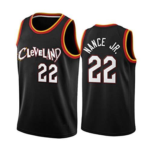 Lārry Nance Jr. Basketball Jersey para Hombre, 2021 New Temporada Clevêlānd Cavaliers 22# Black City Edition Basketball Jerseys, Transpirable y cómoda Sudadera Tops-S