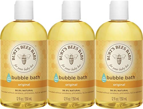 Product Image of the Burts Bees Baby Bubble Bath, Tear Free Baby Wash - 12 Ounce Bottle - Pack of 3