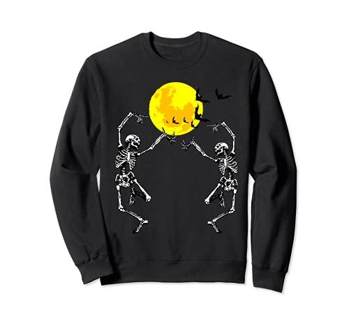 Esqueleto Bailarn Luna llena Disfraz de Halloween Horror Sudadera