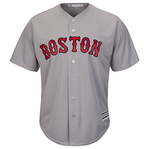 Majestic Boston Red Sox Cool Base MLB Trikot Road Grau (M)