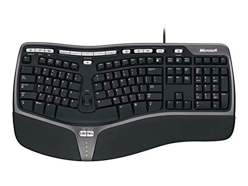 Microsoft Keyboard 4000 (German) Black USB split Keypad, B2M-00001 (Black USB split Keypad Natural Ergo)