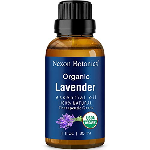 Organic Lavender Essential Oil 30 ml - Certified USDA Natural Undiluted Therapeutic Grade for Aromatherapy, Hair Care and Skin Care - Blend of Pure Lavandula Angustifolia and Hybrida Nexon Botanics