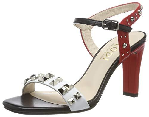 lodi HARO, Sandalia con Pulsera para Mujer, Multicolor (Glove Blanco Glove Blanco), 38 EU (Zapatos)