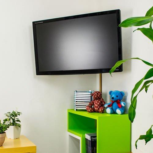 『テレビ 壁掛け 金具 STARPLATINUM 液晶 TV モニター 13-32インチ対応 TVセッターFS NA113 SSサイズ シルバー』のトップ画像