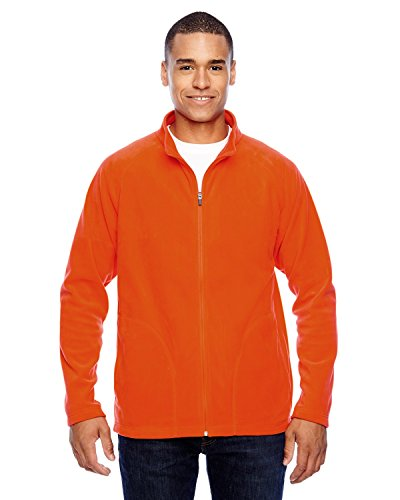 Team 365 Men's Campus Microfleece Jacket, SPORT ORANGE, X-Large
