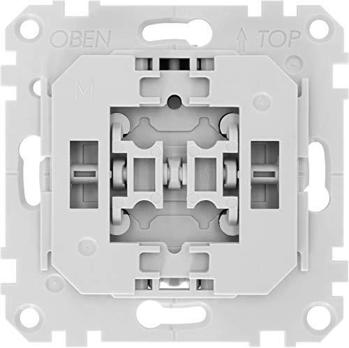TechniSat Smart-Home Rollladenschalter-Einsatz mit Doppelwippe - (Unterputzdose, Z-Wave Plus, smarte Rolladensteuerung per App, kompatibel mit Busch-Jaeger Schalterprogrammen)