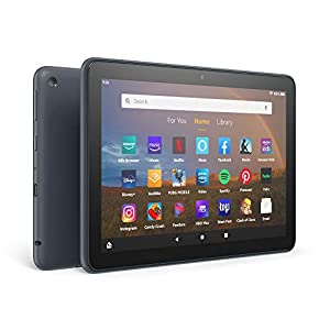 Fire HD 8 Plus tablet, HD display, 32 GB, our best 8″ tablet for portable entertainment, Slate