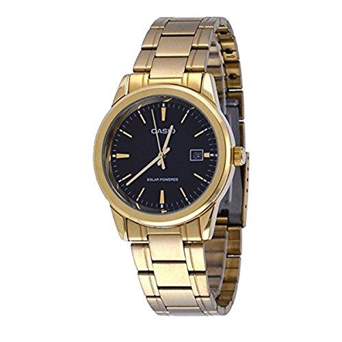 CASIO Mod. MTP-VS01G-1A - Reloj de Cuarzo Solar con Fecha, Esfera Negra, 41 mm WR 30 mtORIGINAL Box