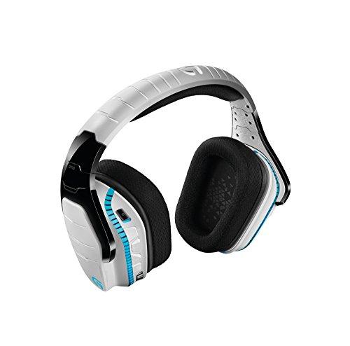 Logitech G933 Artemis Spectrum - Auriculares con micrófono para gaming, sonido envolvente profesional 7.1 y tecnología inalámbrica de 2,4 GHz para PC, Xbox One y PS4, Blanco