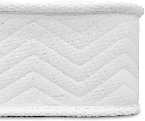 YRRA Colchón doble de 4 pies de dureza media, tejido de muelles con espuma viscoelástica de 5 mm de grosor, 18 cm de grosor