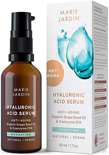 Hyaluron Serum mit Q10 und Vitamin C hochdosiert, 50 ml, bewiesener Anti Aging Effekt, Milderung von...