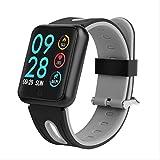 AASSXX Reloj inteligenteIp68 Smart Watch P68 Pulsera de Ejercicio Monitor de Actividad Monitor de Ritmo cardíaco Presión Arterial para iOS Android Apple iPhone 6 7Silicona Gris