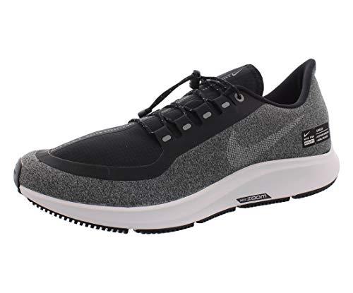 Nike Air Zoom Pegasus 35 Shield Men's Running Shoe Black/White-Cool Grey-VAST Grey 9.0