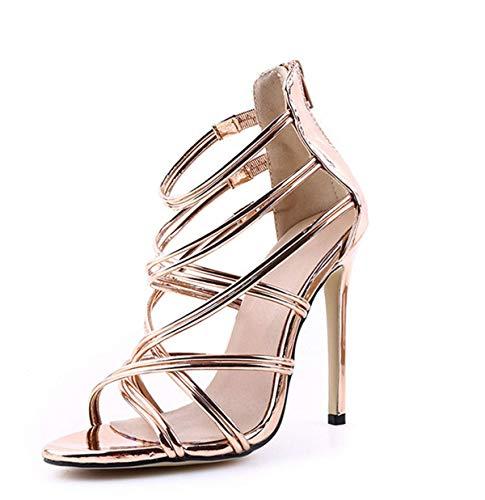 Fanessy Femme Escarpins Mode Sandales Noir Or Rose...