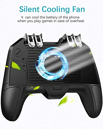 Yppss Mobile Controller, Trigger Mobile Game-Controller mit Lüfter Compatiple for/Call of Duty/Fotnite, L1R1 L2R2 Gaming Gamepad Joystick-Griff-Fernbedienung for 4,7-6,5