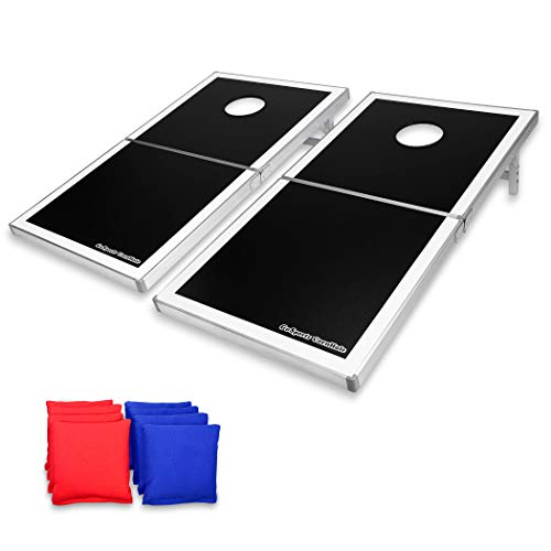 Image of the GoSports CornHole PRO Regulation Size Bean Bag Toss Game Set (Black)