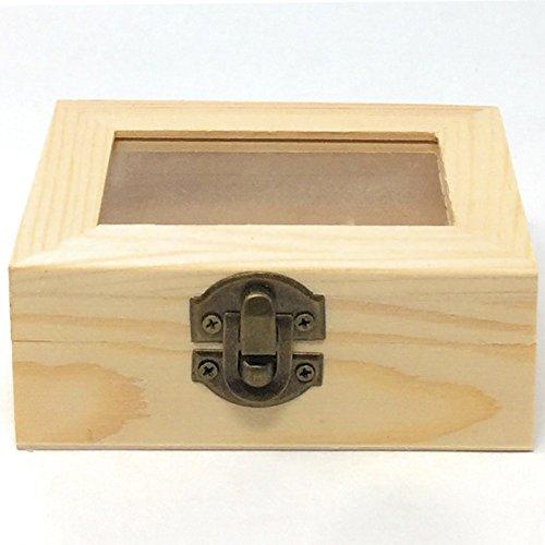 C1 Caja de Madera con Tapa Cristal