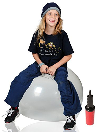 WALIKI Toys Hopper Ball for Adults (Hippity Hop Ball, Hopping Ball, Bouncy Ball with Handles, Sit & Bounce, Space Hopper, Kangaroo Bouncer, Jumping Ball, Transparent Clear)