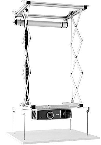 celexon Beamer-Deckenlift PL1000 - ausfahrbar bis 90cm - bis 15kg - max. Projektormaße 57cm x 60cm - auch für abgehängte Decken