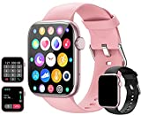 feifuns Smart Watch with Call(Answer Make Call) IP67 Waterproof Fitness Tracker Heart Rate Blood Pressure Oxygen SpO2 Sleep Step Calorie Count Smart Watches for Men Women for Android iOS Phone (Pink)