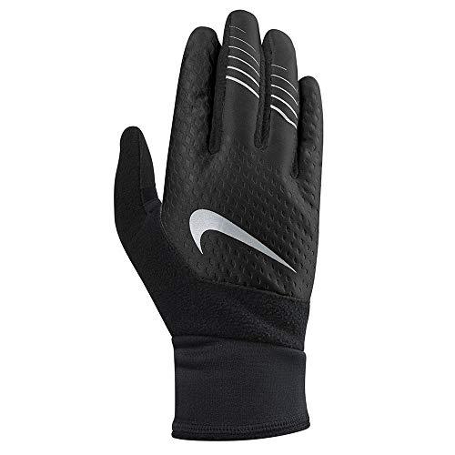 Nike Men s Therma fit Elite Run Gloves 2.0,Med(Black Silver)