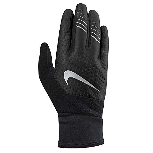 Nike Men's Therma Fit Elite Run Gloves,2.0, Size Large (Black/Silver)