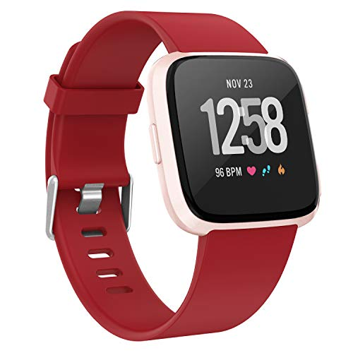 Recoppa For Fitbit Versa Correa, Soft TPU Reemplazo Versa Band Compatible con Versa Lite/Versa Special Edition/Versa 2, Mujeres Hombres Pequeño Grande