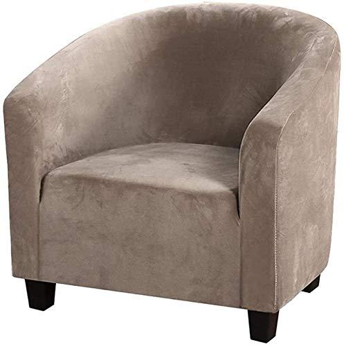H-CAR Housses de fauteuil en velours pour fauteuils, housses de fauteuil en peluche élastique, housse amovible et lavable pour bar, comptoir, salon, réception (couleur sable)