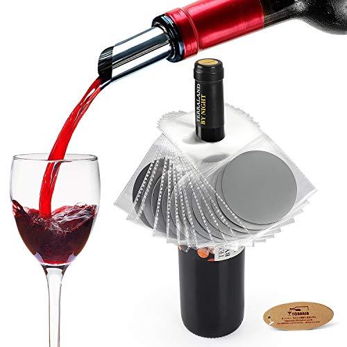 YOBANSA Set von 12 Wein Tropfen stoppt Ausgießer, Weinausgießer Set,Weinzubehör (Style03)