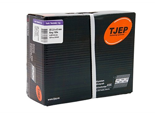 TJEP GR 28/63 D-Kopf Streifennägel Rille Verzinkt, 2,8x63mm Jumbobox
