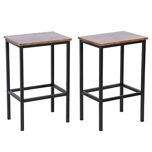 Ejoyous Barhocker 2er Set, Barstühle, Küchenstühle im Industrie-Design, mit Fußstütze, für Küche, Wohnzimmer, Partykeller, 30x40x63.5cm