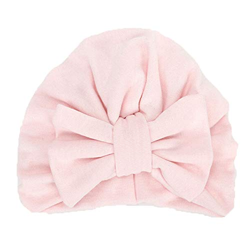 Baby Winter Warm Hat, Fheaven Newborn Girls Boys Big Bowknot Sleep Cap Headwear Hat Cap (Pink)