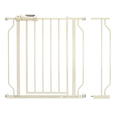 Easy Walk-Thru Pressure-Mounted Pass-Through Gate, White