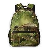Alvaradod Mochila para portátil de viaje,bosque encantado con setas y rocas,mochila antirrobo resistente al agua para empresas,delgada y duradera