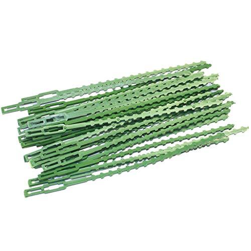 Ogquaton, 30 fascette stringicavo da giardino, riutilizzabili, per piante, per cespugli, per la chiusura dell'albero, a spina di pesce, verde, paesaggio, da giardino, per legare cavi