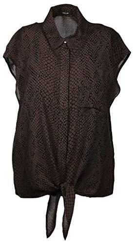 OPUS Damen Falim Snake Bluse, Black, 38