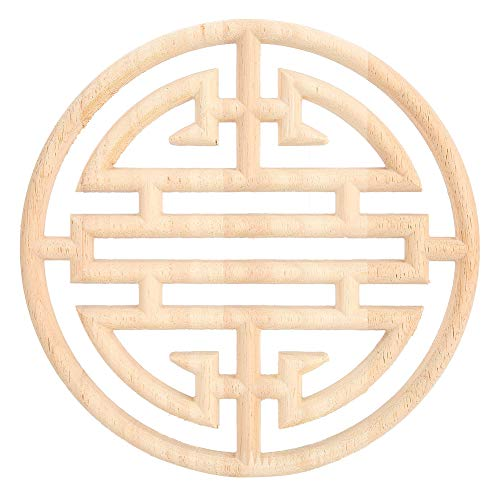 Alinory Muebles de madera tallada en madera tallada de estilo vintage chino Yz aplique de madera tallada calcomanía muebles armario puerta Home Decor