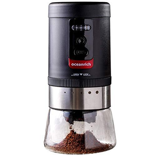 BaiJaC Grinder Elettrico del caffè, con Un Filtro in Ceramica e Un macinino per Chicchi di caffè con Spessore Regolabile, per Viaggiare per Famiglie smerigliatrici Portatili spezie e Chopper