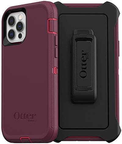 OtterBox Defender Series SCREENLESS Edition Case for iPhone 12 & iPhone 12 Pro – Berry Potion (Raspberry Wine/Boysenberry) (77-65903)