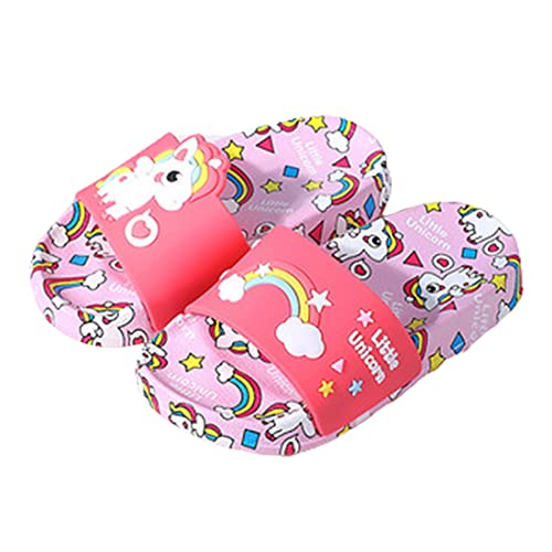 Pantoufles Chaussons D'été pour Enfants Sabots pour Garcon Et Filles Chaussures Doux Antidérapant Sandales Piscine Et Plage,Rose,30~31