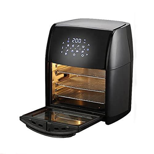 QNMM 10L Air Fryer, 1800W Elettrico Girarrosto con LED Schermo Attivabile al Tatto, delle Famiglie Riscaldamento Rotante Multifunzione Intelligente Forno con Finestrino
