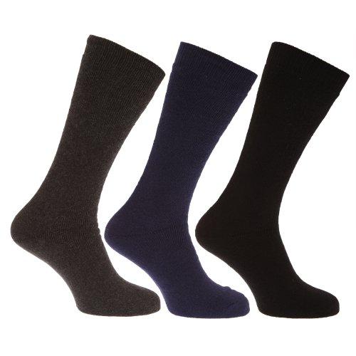 Universal Textiles Herren Thermo-Wärme Extra lange Winter Socken (3Stück) Gr. Large, Dark Assorted